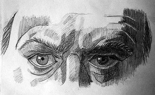 Boceto mirada hombre