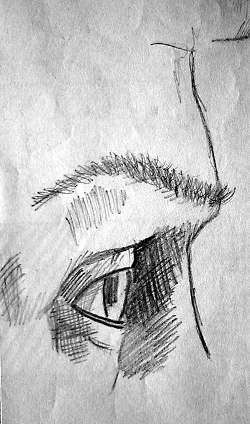 Boceto ojo de perfil