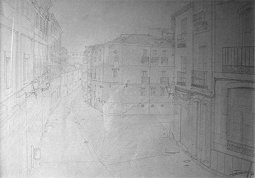 Boceto calle de Salamanca