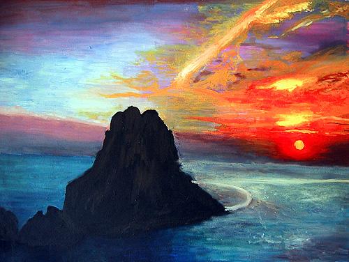 Boceto es Vedrà en Ibiza