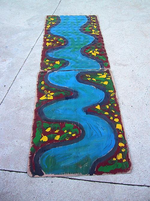 Boceto tramo de río