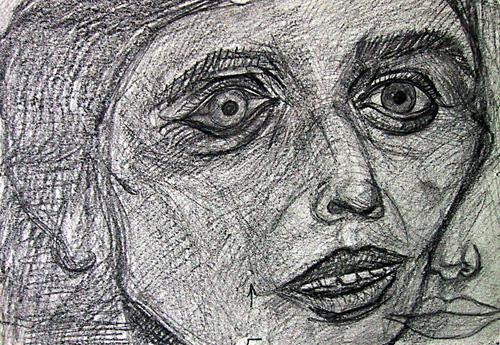 Boceto cara de mujer