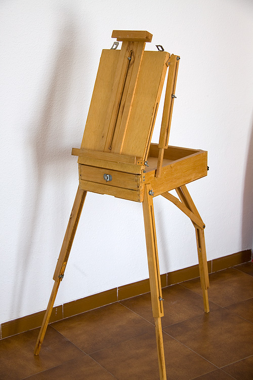Caballete pintor artesanal frontal
