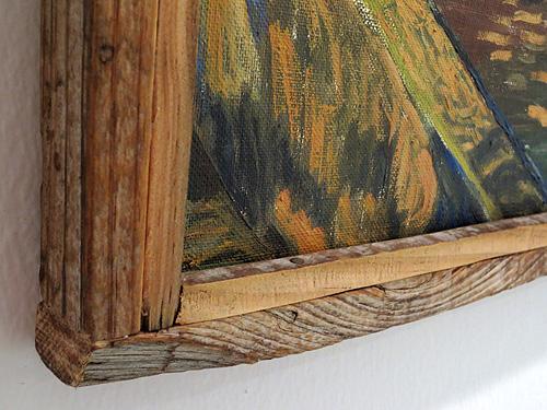 Detalle de marco de madera reciclada