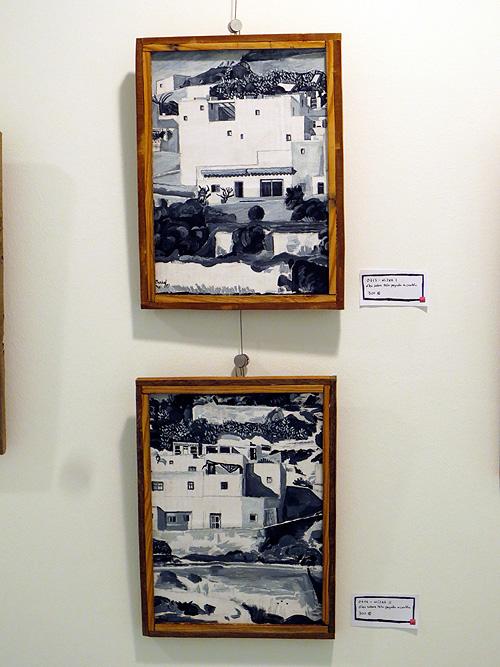 Cuadros al óleo en blanco y negro sobre Níjar
