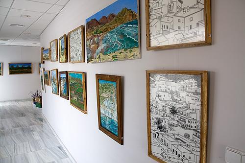 Detalle del pasillo de la galería