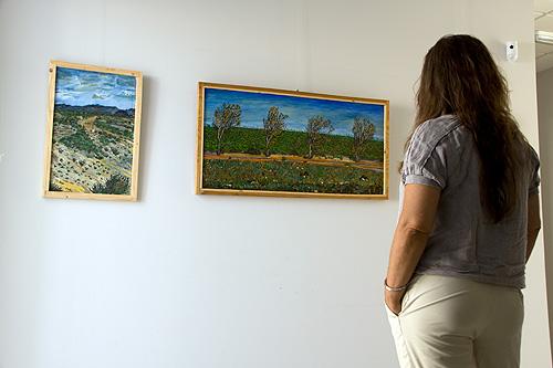 El público pudo contemplar 50 obras expuestas