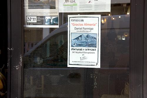 Detalle del cartel publicitario de la exposición