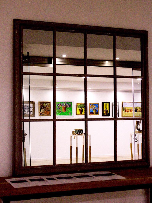 Inauguración de la exposición con los invitados