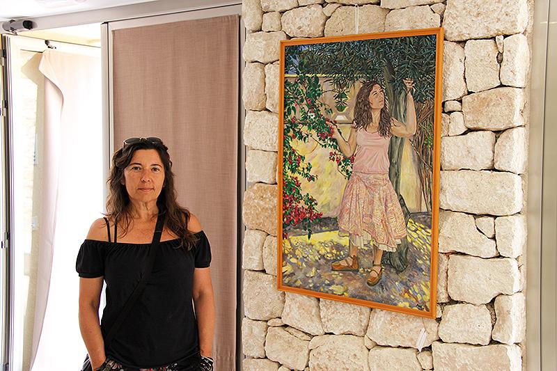 Con mi cuadro al óleo las Hoces del Duratón 2