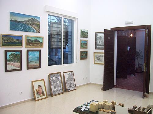 Vista de la entrada a la exposición