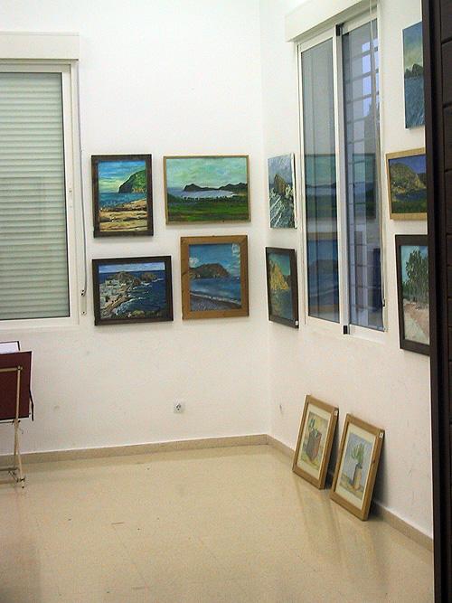 Pinturas y dibujos con paisajes y motivos del Cabo de Gata