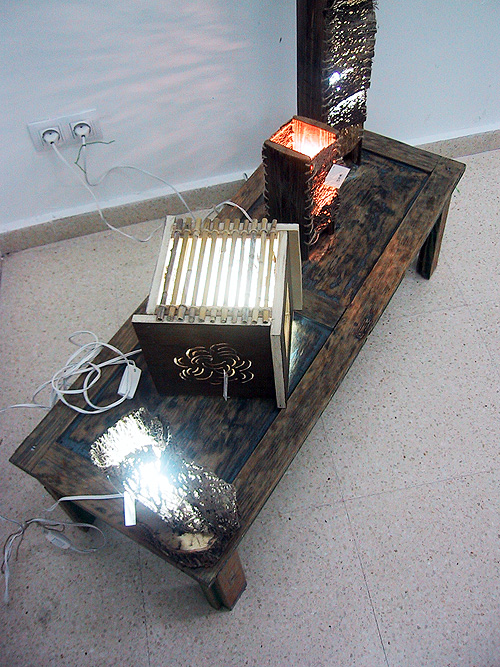 Detalle superior de las lámparas