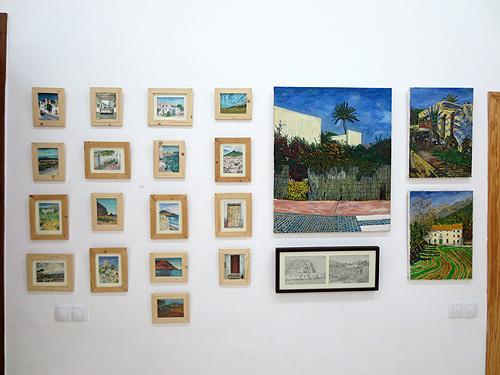 Composición de pinturas de pequeño formato