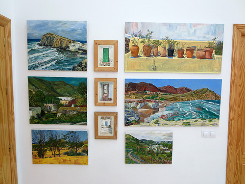 Pinturas al óleo de paisajes del Cabo de Gata