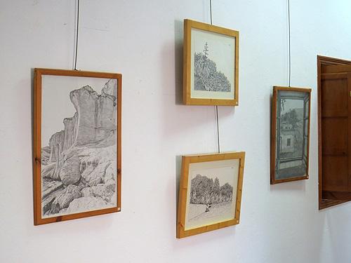 Dibujos hechos a grafito y tinta china