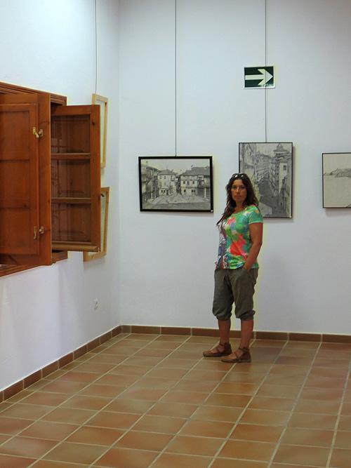 Visitando la exposición de arte
