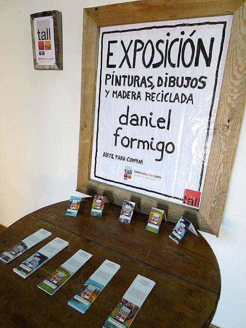 Cartel de la exposición y tarjetas de visita