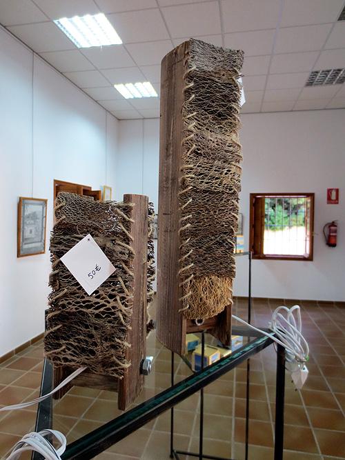 Lámparas hechas a mano con fibra de chumbera