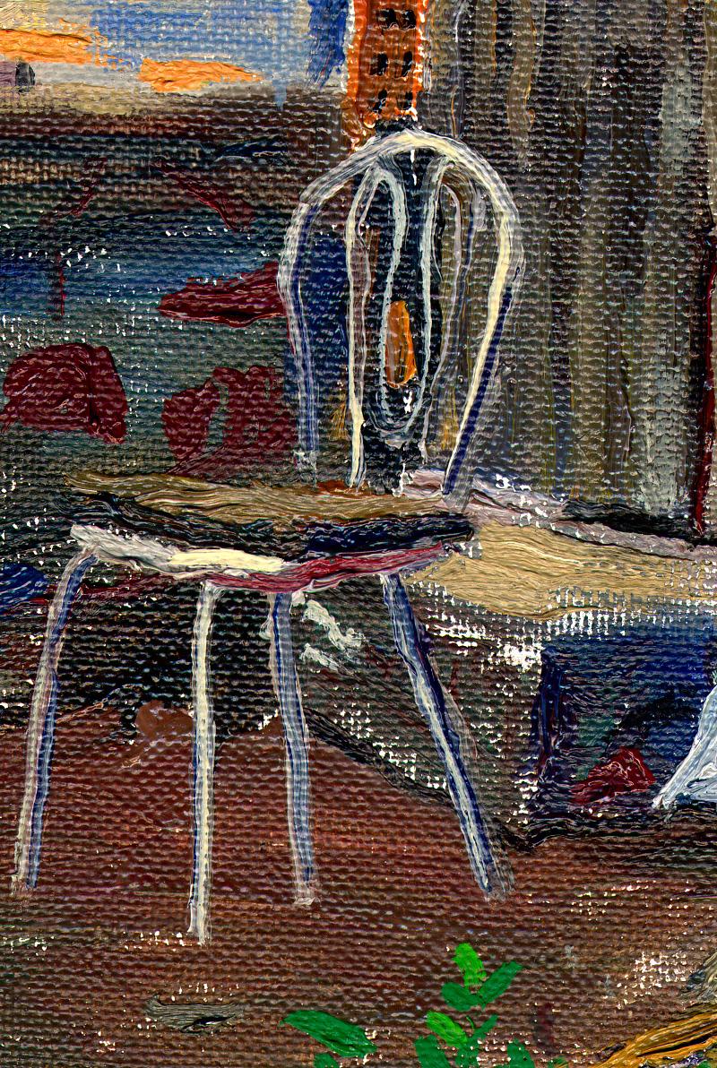 Detalle de Entrada con silla