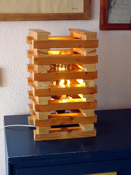 Frontal de Lámpara de listones
