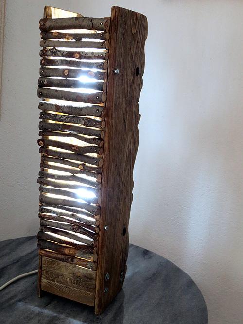 Frontal con ramas de pino de Lámpara andaluza doble materia