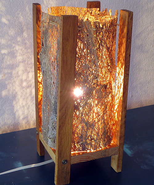 Lámpara de fibra circular