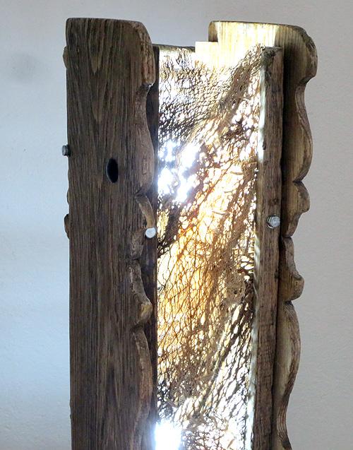 Detalle frontal de Lámpara andaluza doble materia