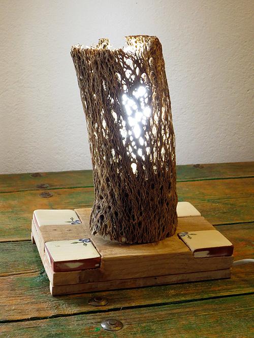 Lámpara fibra con cuatro cerámicas