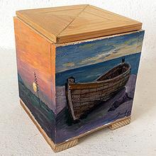 Objetos artísticos y funcionales de madera reciclada para interiorismo