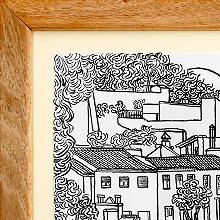 Serie de tintas sobre el Albaicín de Granada