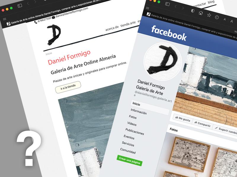 Página web vs página de Facebook